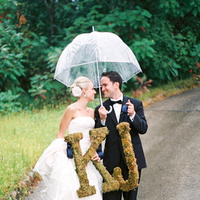 Real Weddings, Rustic, Bride and groom, Umbrella, Elegant, Monograms, Moss, Sophisticated, wisconsin weddings, wisconsin real weddngs