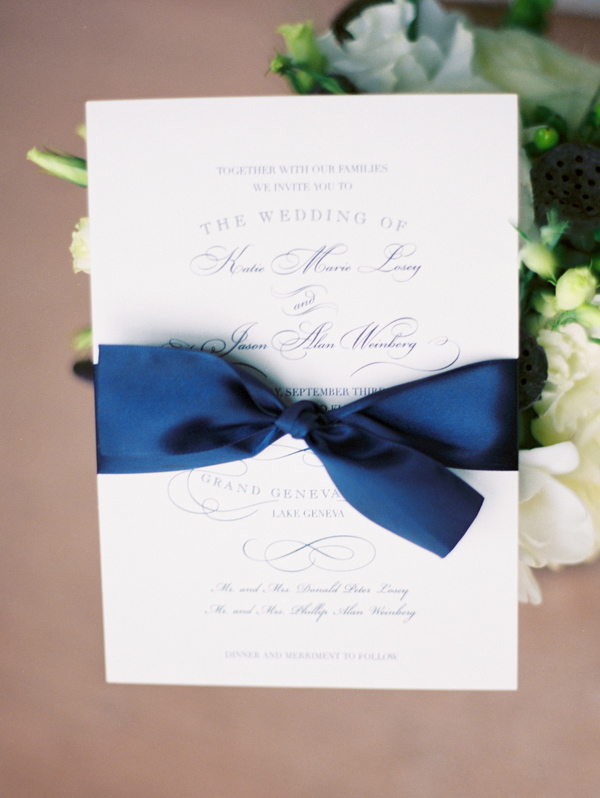 Stationery, Real Weddings, Wedding Style, blue, Classic, Classic Wedding Invitations, Vineyard Wedding Invitations, Invitations, Classic Real Weddings, Classic Weddings, Elegant, Navy, Sophisticated, Wisconsin Real Weddings, wisconsin weddings