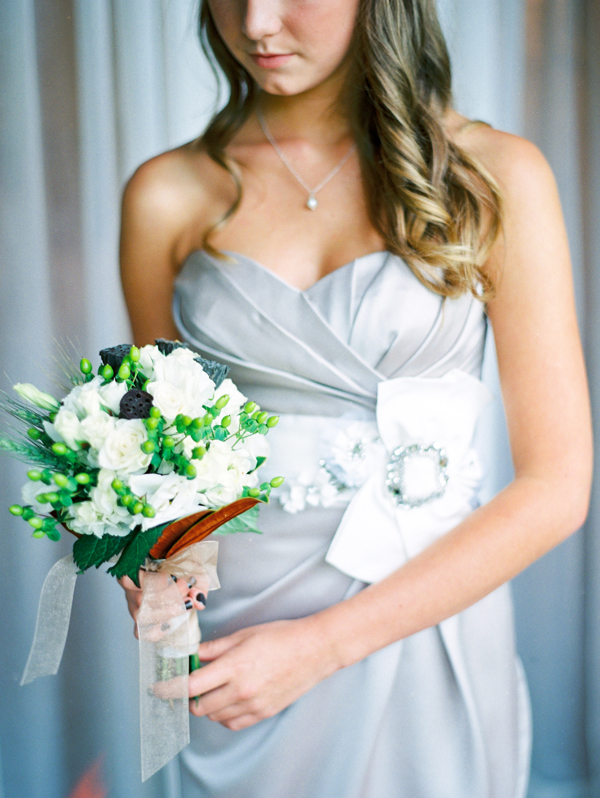 Beauty, Flowers & Decor, Real Weddings, Wedding Style, silver, Platinum, Garden Real Weddings, Garden Weddings, Rustic Weddings, Classic Wedding Flowers & Decor, Garden Wedding Flowers & Decor, Bridesmaid, Elegant, Curls, Rustic Flowers & Decor, Wisconsin Real Weddings, wisconsin weddings
