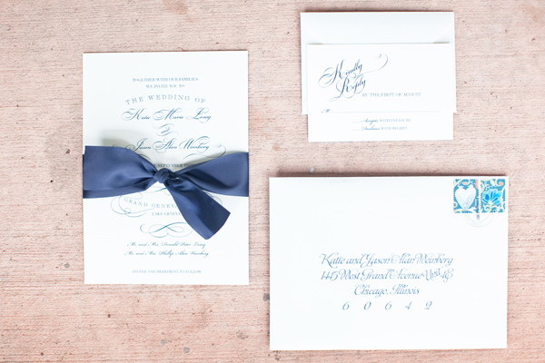 Calligraphy, Stationery, Real Weddings, Invitations, Elegant, Navy, Sophisticated, Wisconsin Real Weddings, wisconsin weddings