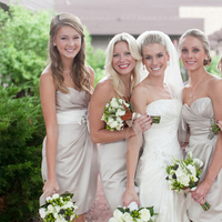 Bridesmaids, Real Weddings, Bridal party, Champagne, Elegant, Neutral, Taupe, Sophisticated