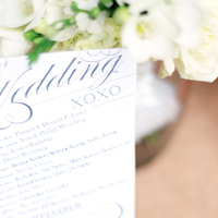 Stationery, Real Weddings, Elegant, Ceremony program, Navy, Sophisticated, Wisconsin Real Weddings, wisconsin weddings