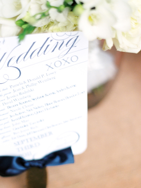 Stationery, Real Weddings, Elegant, Ceremony program, Navy, Sophisticated