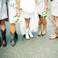 Bridesmaids, Real Weddings, Bridal party, Cowboy boots, Wisconsin Real Weddings, wisconsin weddings