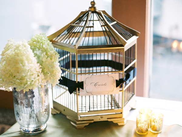 Reception, Real Weddings, ivory, Elegant, Birdcage, Hydrangeas, Sophisticated