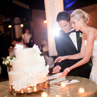 Reception, Real Weddings, Elegant, Sophisticated, cutting the cake
