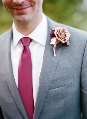 Flowers & Decor, Real Weddings, Wedding Style, pink, gray, Boutonnieres, Spring Weddings, Midwest Real Weddings, Spring Real Weddings
