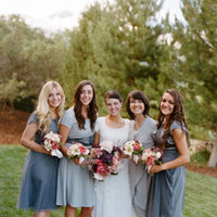 Bridesmaid Dresses, Fashion, Real Weddings, Wedding Style, gray, Spring Weddings, Midwest Real Weddings, Spring Real Weddings