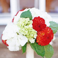 Flowers & Decor, Real Weddings, Wedding Style, white, orange, green, Bride Bouquets, Rustic Real Weddings, Midwest Real Weddings, Rustic Weddings, Summer Wedding Flowers & Decor