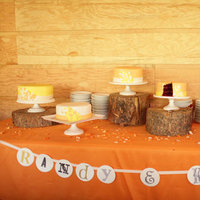 Cakes, Real Weddings, Wedding Style, yellow, Wedding Cakes, Rustic Real Weddings, Midwest Real Weddings, Rustic Weddings, rustic wedding cakes, dessert displays
