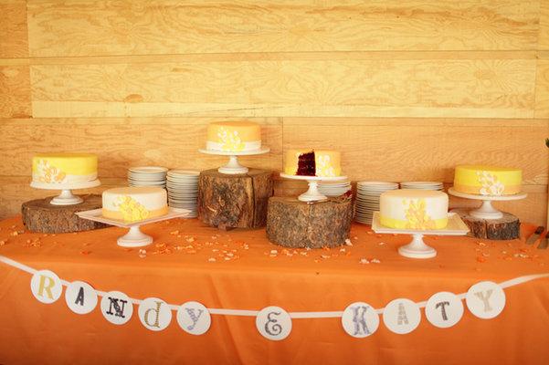 Cakes, Real Weddings, Wedding Style, yellow, Wedding Cakes, Rustic Real Weddings, Midwest Real Weddings, Rustic Weddings, rustic wedding cakes, dessert displays