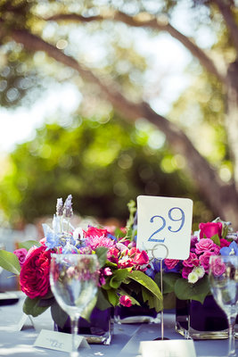 Flowers & Decor, Real Weddings, Wedding Style, Table Numbers, Modern Real Weddings, Summer Weddings, West Coast Real Weddings, Summer Real Weddings, Vintage Real Weddings, Modern Weddings, Vintage Weddings, Vintage Wedding Flowers & Decor