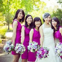 Bridesmaid Dresses, Fashion, Real Weddings, Wedding Style, purple, Modern Real Weddings, Summer Weddings, West Coast Real Weddings, Summer Real Weddings, Modern Weddings