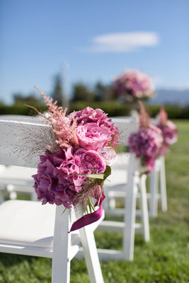 Flowers & Decor, Real Weddings, Wedding Style, pink, Ceremony Flowers, Aisle Decor, Spring Weddings, West Coast Real Weddings, Spring Real Weddings, Vineyard Real Weddings, Vineyard Weddings, Spring Wedding Flowers & Decor