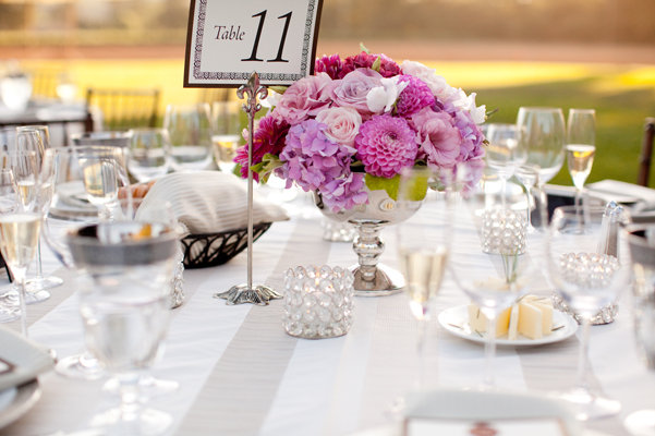 Flowers & Decor, Stationery, Real Weddings, Wedding Style, pink, Centerpieces, Table Numbers, Spring Weddings, West Coast Real Weddings, Spring Real Weddings, Vineyard Real Weddings, Vineyard Weddings, Spring Wedding Flowers & Decor, Vineyard Wedding Flowers & Decor