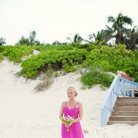 Flowers & Decor, Bridesmaid Dresses, Destinations, Real Weddings, Wedding Style, pink, Destination Weddings, Caribbean, Beach, Beach Real Weddings, Beach Weddings, Bahamas, preppy weddings, preppy real weddings