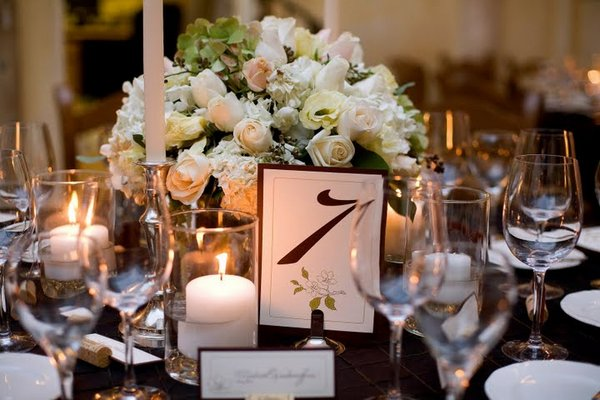 Flowers & Decor, Stationery, Real Weddings, Wedding Style, Table Numbers, West Coast Real Weddings, Classic Real Weddings, Classic Weddings, Classic Wedding Flowers & Decor