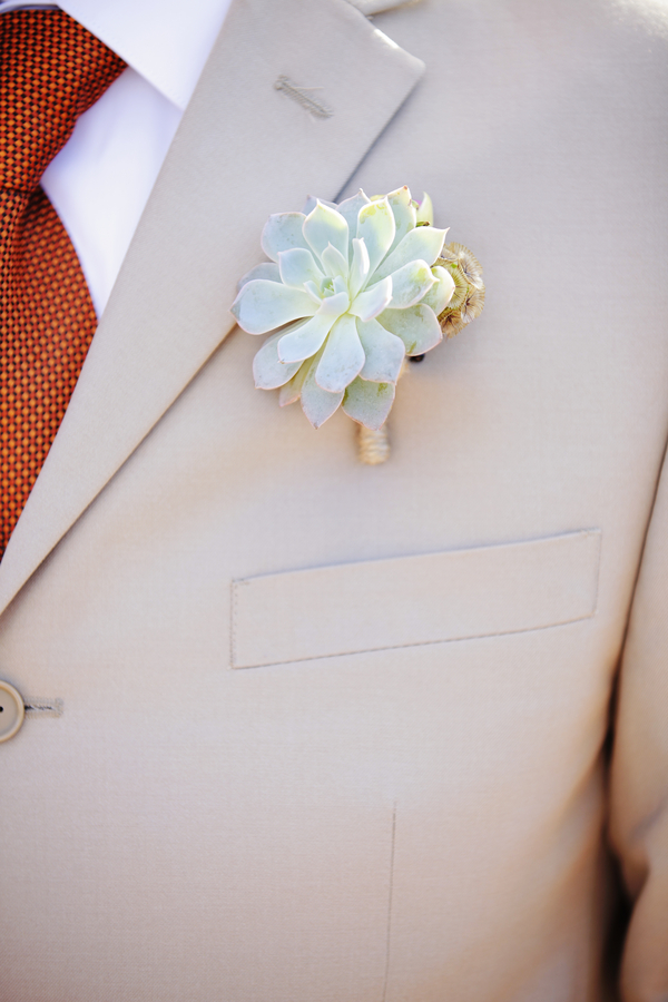 Flowers & Decor, Real Weddings, Wedding Style, gray, Boutonnieres, Modern Real Weddings, Summer Weddings, West Coast Real Weddings, Summer Real Weddings, Modern Weddings, Modern Wedding Flowers & Decor