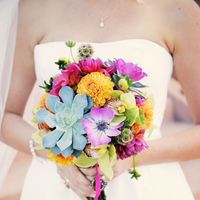 Flowers & Decor, Real Weddings, Wedding Style, pink, Bride Bouquets, Modern Real Weddings, Summer Weddings, West Coast Real Weddings, Summer Real Weddings, Modern Weddings, Modern Wedding Flowers & Decor