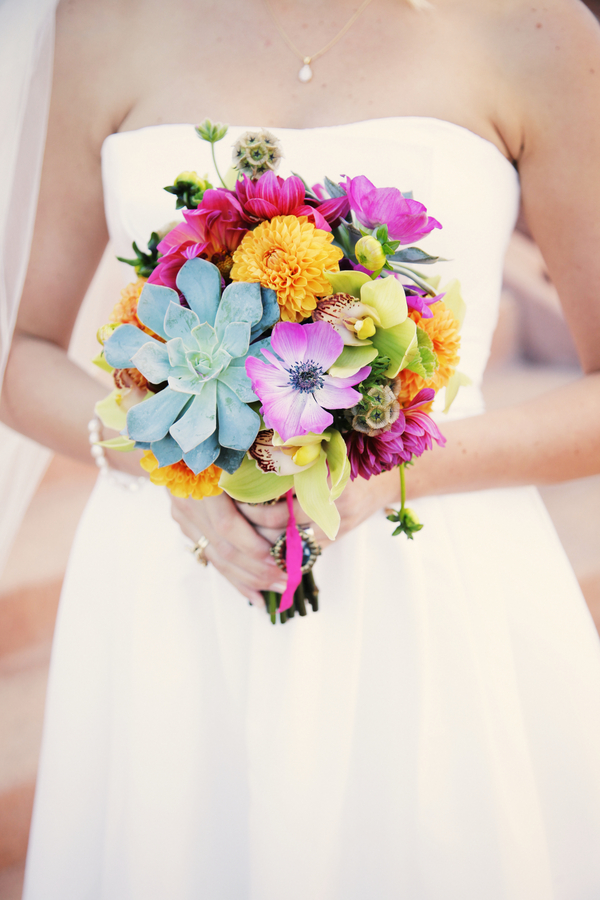 Flowers & Decor, Real Weddings, Wedding Style, pink, Bride Bouquets, Modern Real Weddings, Summer Weddings, West Coast Real Weddings, Summer Real Weddings, Modern Weddings, Modern Wedding Flowers & Decor