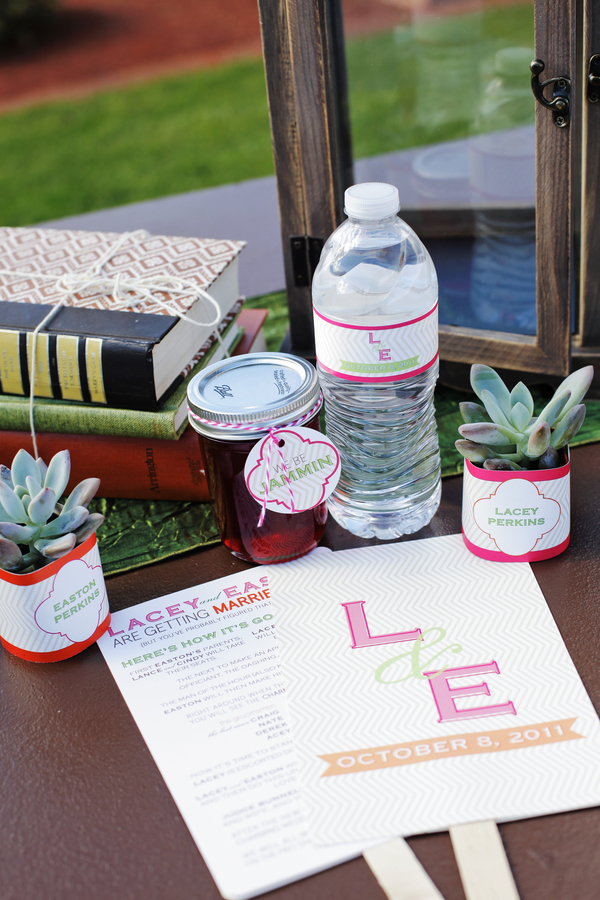 Favors & Gifts, Stationery, Real Weddings, Wedding Style, orange, pink, Edible Wedding Favors, Modern Wedding Favors & Gifts, Modern Wedding Invitations, Ceremony Programs, Place Cards, Modern Real Weddings, Summer Weddings, West Coast Real Weddings, Summer Real Weddings, Modern Weddings