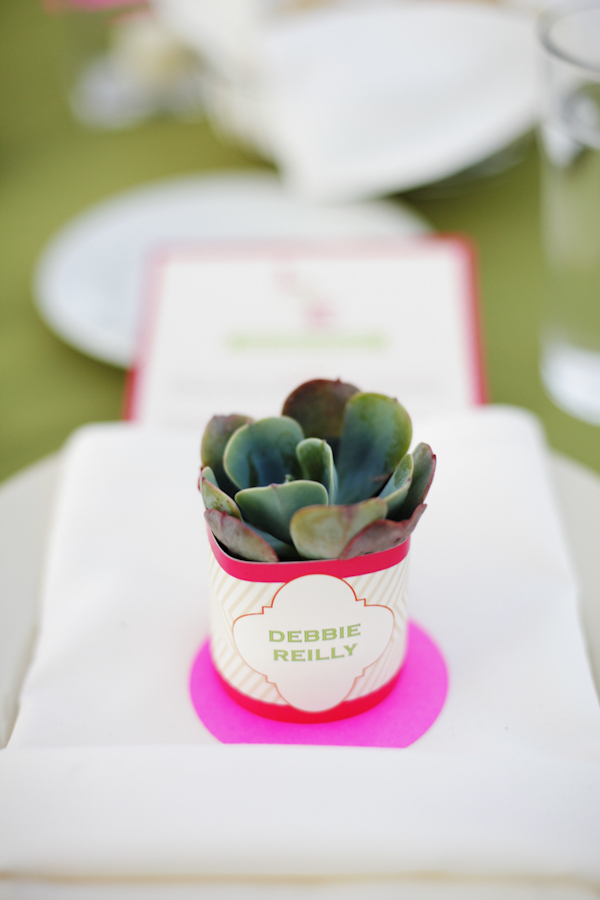 Flowers & Decor, Real Weddings, Wedding Style, pink, green, Place Cards, Modern Real Weddings, Summer Weddings, West Coast Real Weddings, Summer Real Weddings, Modern Weddings, Modern Wedding Flowers & Decor, Table settings