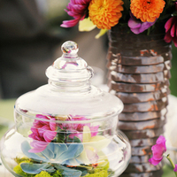 Flowers & Decor, Real Weddings, Wedding Style, pink, green, Centerpieces, Modern Real Weddings, Summer Weddings, West Coast Real Weddings, Summer Real Weddings, Modern Weddings, Modern Wedding Flowers & Decor