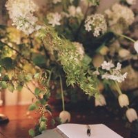ivory, green, Guestbooks, Rustic Real Weddings, West Coast Real Weddings, Rustic Weddings