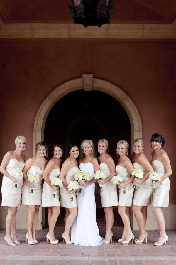 Bridesmaids, Real Weddings, ivory, West Coast Real Weddings, Classic Real Weddings, Classic Weddings, Bridal party, Champagne, Neutral, West Coast Weddings, Monochromatic Wedding