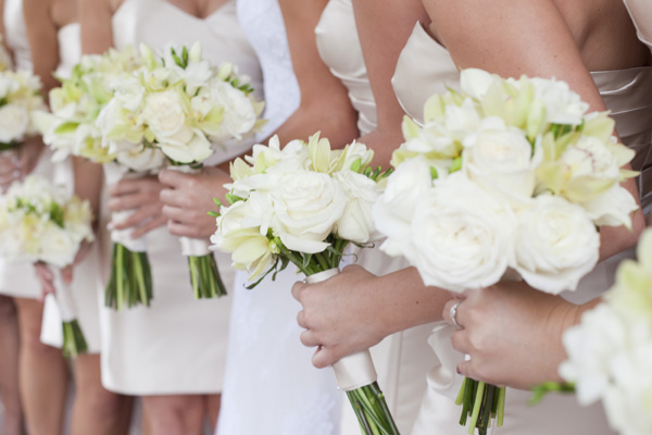 Flowers & Decor, Real Weddings, Wedding Style, ivory, West Coast Real Weddings, Classic Real Weddings, Classic Weddings, Classic Wedding Flowers & Decor, Spring Wedding Flowers & Decor, Summer Wedding Flowers & Decor, Bouquets, West Coast Weddings, Monochromatic Wedding