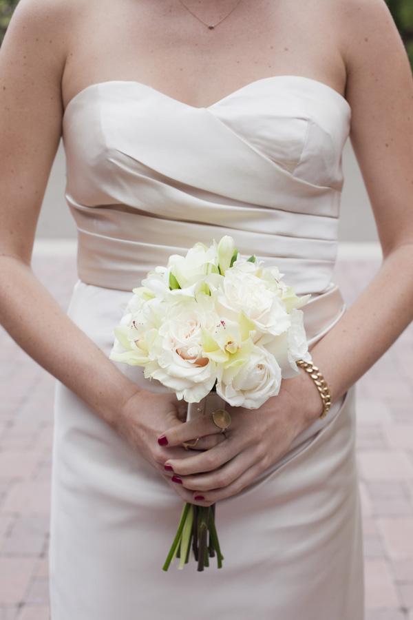 Flowers & Decor, Real Weddings, ivory, West Coast Real Weddings, Classic Real Weddings, Classic Weddings, Classic Wedding Flowers & Decor, Bridesmaid bouquet, West Coast Weddings, Monochromatic Wedding