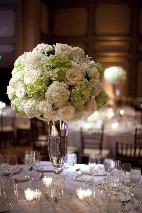 Reception, Flowers & Decor, Real Weddings, Wedding Style, ivory, Centerpieces, West Coast Real Weddings, Classic Real Weddings, Classic Weddings, Classic Wedding Flowers & Decor, West Coast Weddings, Monochromatic Wedding