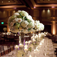 Reception, Flowers & Decor, Real Weddings, Wedding Style, ivory, Centerpieces, Candles, West Coast Real Weddings, Classic Real Weddings, Classic Weddings, Classic Wedding Flowers & Decor, Candlelight, West Coast Weddings, Monochromatic Wedding
