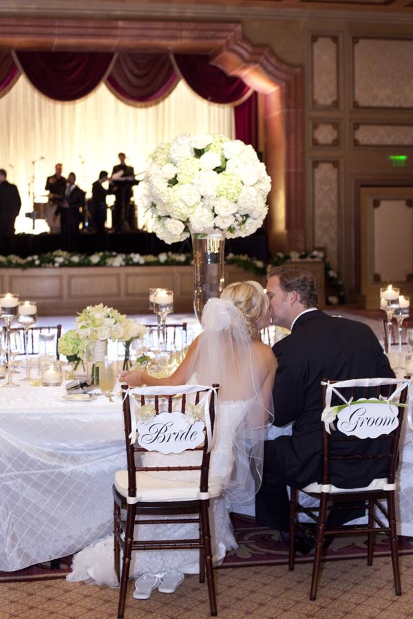 Reception, Real Weddings, ivory, West Coast Real Weddings, Classic Real Weddings, Classic Weddings, Classic Wedding Flowers & Decor, West Coast Weddings, Monochromatic Wedding