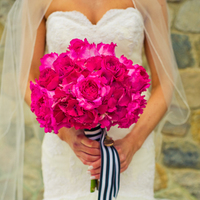 Flowers & Decor, Real Weddings, Wedding Style, pink, Bride Bouquets, Modern Real Weddings, Midwest Real Weddings, Modern Weddings