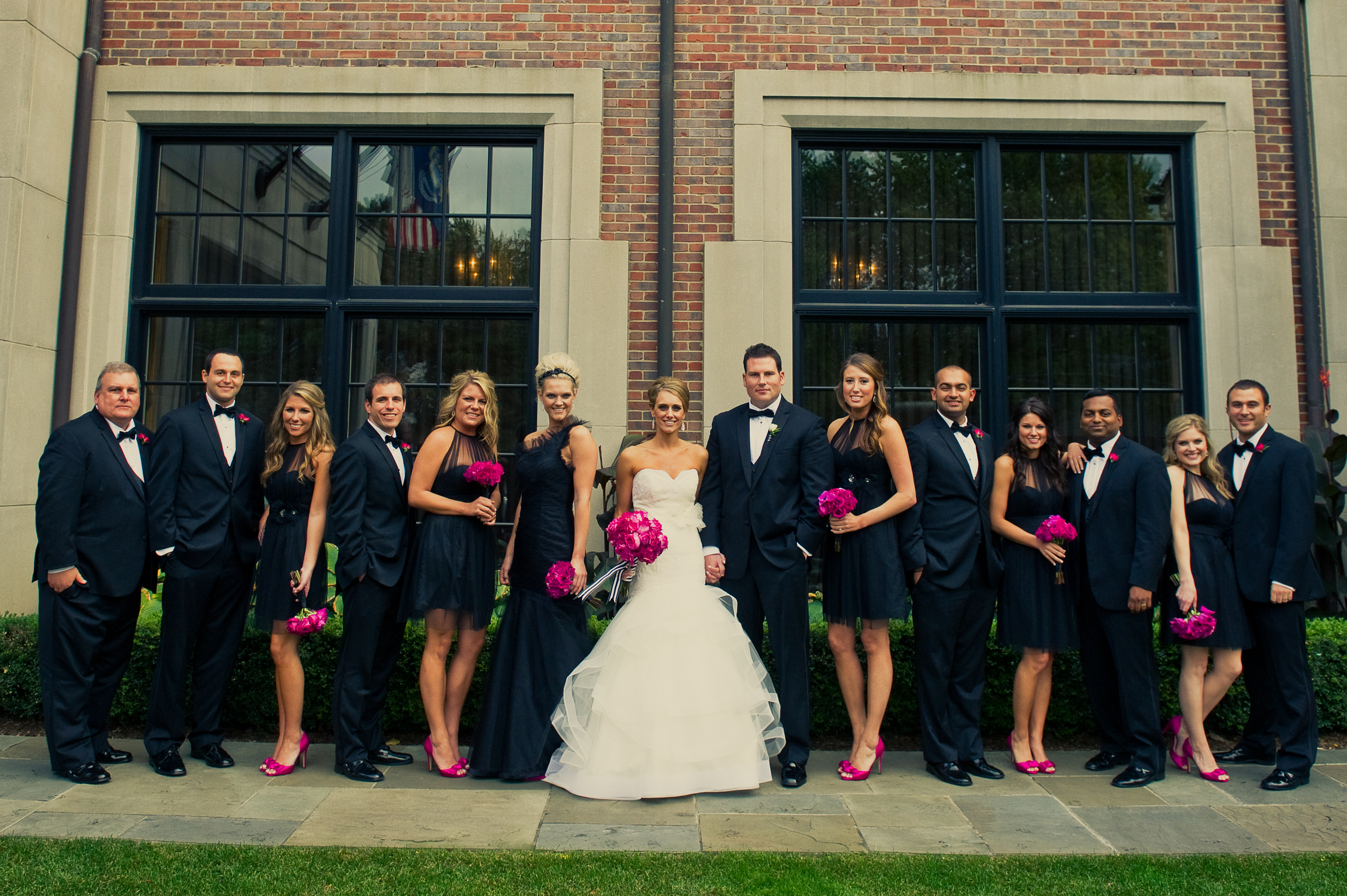 Real Weddings, pink, black, Modern Real Weddings, Midwest Real Weddings, Modern Weddings