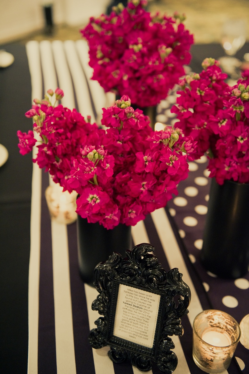 Real Weddings, pink, black, Centerpieces, Modern Real Weddings, Midwest Real Weddings, Modern Weddings, Modern Wedding Flowers & Decor, michigan weddings, michigan real weddings