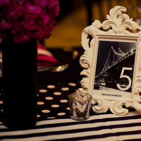 Stationery, Real Weddings, Wedding Style, pink, black, Table Numbers, Modern Real Weddings, Midwest Real Weddings, Modern Weddings