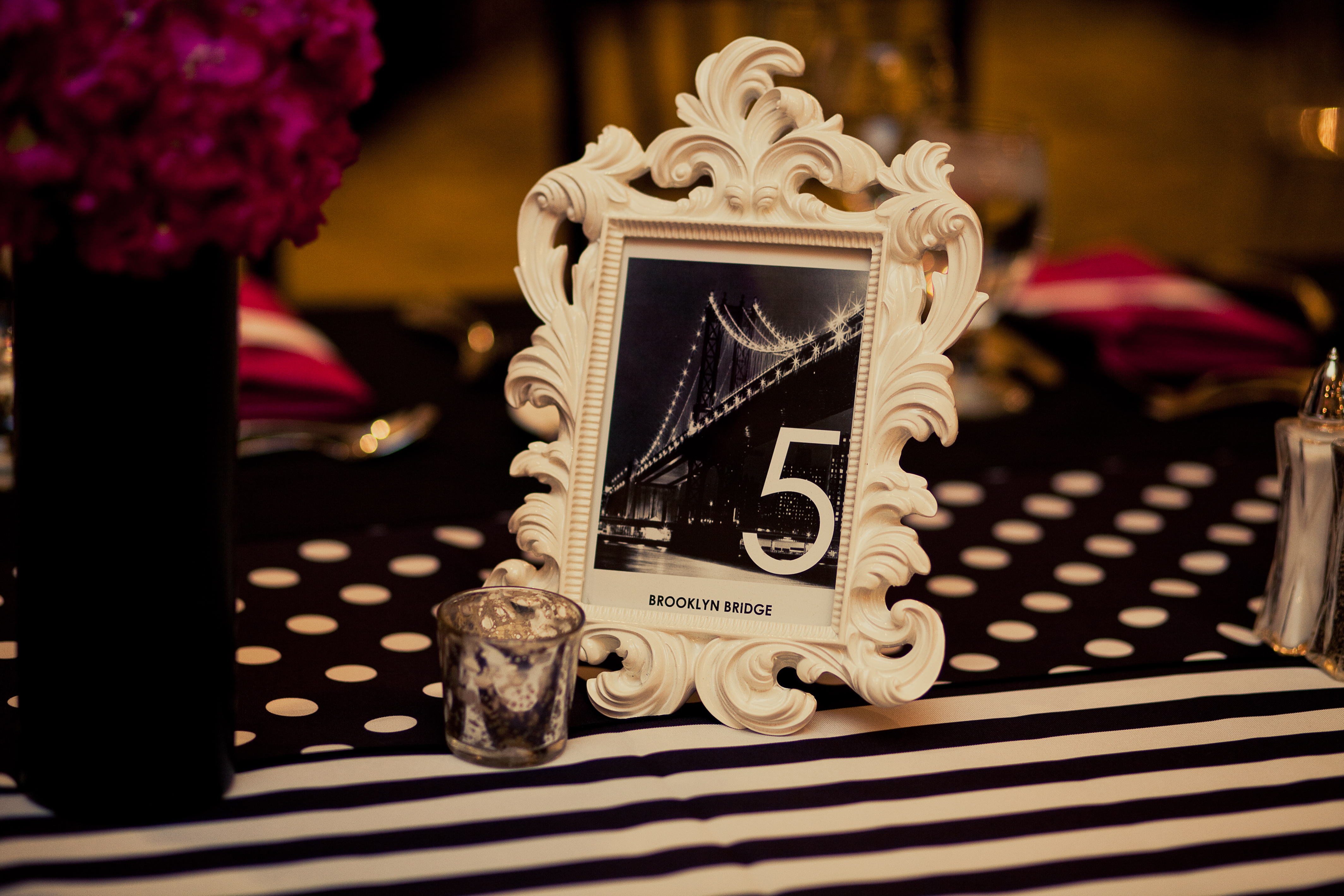 Stationery, Real Weddings, Wedding Style, pink, black, Table Numbers, Modern Real Weddings, Midwest Real Weddings, Modern Weddings, michigan weddings, michigan real weddings