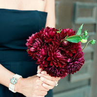 Flowers & Decor, Real Weddings, Wedding Style, red, Bridesmaid Bouquets, Fall Weddings, Modern Real Weddings, Southern Real Weddings, Fall Real Weddings, Glam Real Weddings, Glam Weddings, Modern Weddings, Fall Wedding Flowers & Decor