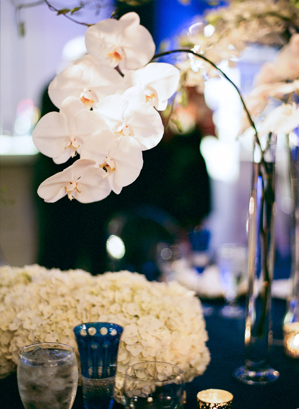 Flowers & Decor, Real Weddings, Wedding Style, white, Centerpieces, Fall Weddings, Modern Real Weddings, Southern Real Weddings, Fall Real Weddings, Glam Real Weddings, Glam Weddings, Modern Weddings, Glam Wedding Flowers & Decor, Modern Wedding Flowers & Decor, Orchids