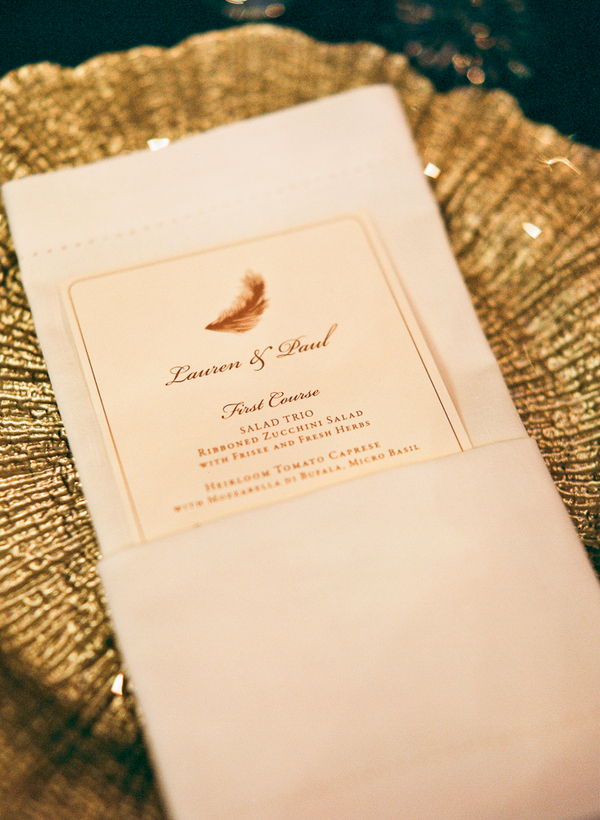 Stationery, Real Weddings, Wedding Style, gold, Menu Cards, Fall Weddings, Modern Real Weddings, Southern Real Weddings, Fall Real Weddings, Glam Real Weddings, Glam Weddings, Modern Weddings