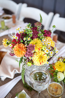 Flowers & Decor, Real Weddings, Wedding Style, yellow, Centerpieces, Northeast Real Weddings, Summer Weddings, Summer Real Weddings, Summer Wedding Flowers & Decor