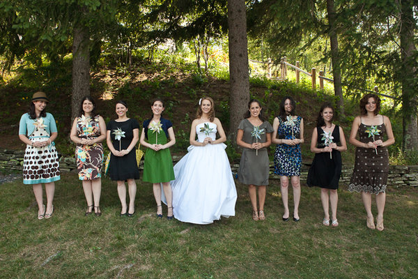 Bridesmaids Dresses, Bridesmaid Dresses, Real Weddings, Wedding Style, blue, green, Northeast Real Weddings, Summer Weddings, Summer Real Weddings, new york weddings, new york real weddings