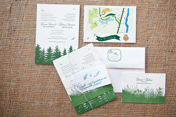 Stationery, Real Weddings, Wedding Style, green, Invitations, Northeast Real Weddings, Summer Weddings, Summer Real Weddings, Wedding invitations, new york weddings, new york real weddings