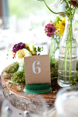 Flowers & Decor, Stationery, Real Weddings, green, Table Numbers, Northeast Real Weddings, Summer Weddings, Summer Real Weddings, Summer Wedding Flowers & Decor