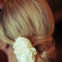 Beauty, Real Weddings, Wedding Style, white, Chignon, Updo, Summer Weddings, West Coast Real Weddings, Summer Real Weddings, Hair flower