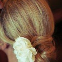 Beauty, Real Weddings, Wedding Style, white, Chignon, Updo, Summer Weddings, West Coast Real Weddings, Summer Real Weddings, Hair flower