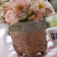 Flowers & Decor, Real Weddings, Wedding Style, Centerpieces, Table Numbers, Fall Weddings, Rustic Real Weddings, West Coast Real Weddings, Fall Real Weddings, Rustic Weddings, Rustic Wedding Flowers & Decor, Tea cups, Farm Real Weddings, farm weddings