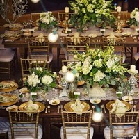 Flowers & Decor, Real Weddings, Wedding Style, ivory, green, brown, gold, Tables & Seating, Fall Weddings, Rustic Real Weddings, Southern Real Weddings, Fall Real Weddings, Rustic Weddings, Fall Wedding Flowers & Decor, Rustic Wedding Flowers & Decor, Table settings, Centerpices